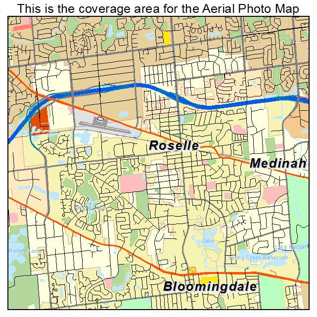 Roselle Illinois Map.Aerial Photography Map Of Roselle Il Illinois