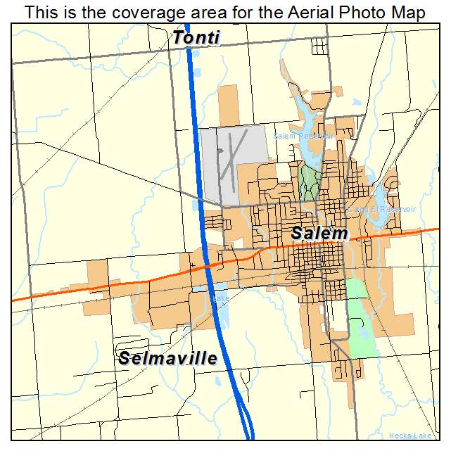 Aerial Photography Map Of Salem IL Illinois