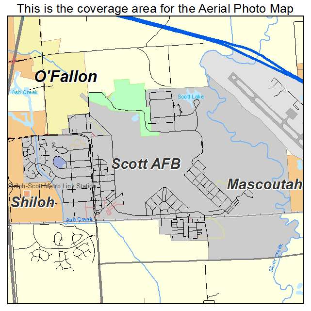 Scott AFB, IL Illinois Aerial Photography Map 2015