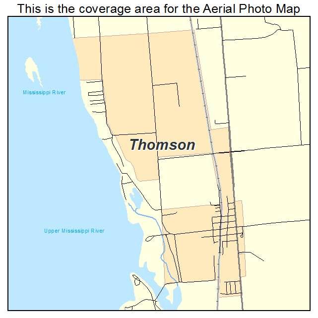 Thomson Illinois Map.Aerial Photography Map Of Thomson Il Illinois