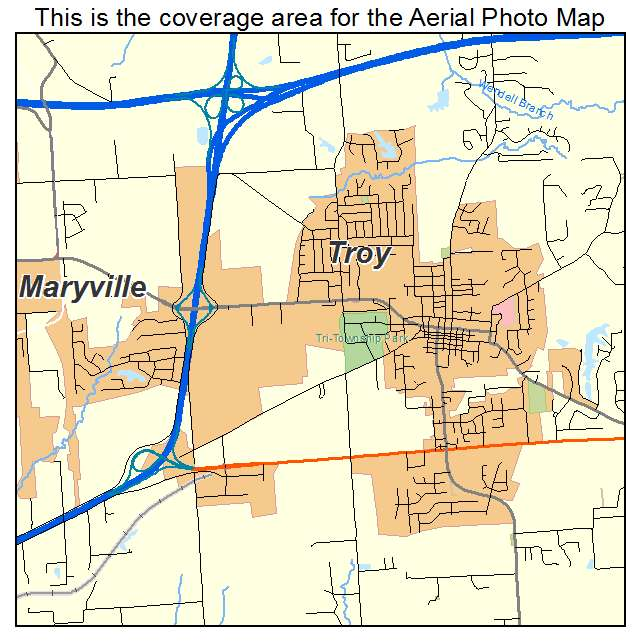 Aerial Photography Map Of Troy IL Illinois