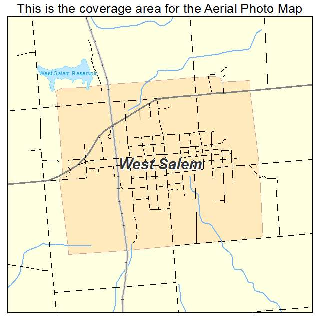 Aerial Photography Map Of West Salem IL Illinois