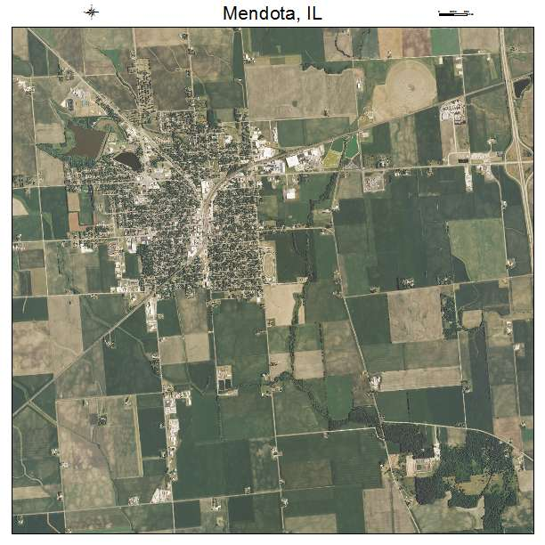 Mendota, IL air photo map