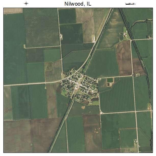 Nilwood, IL air photo map