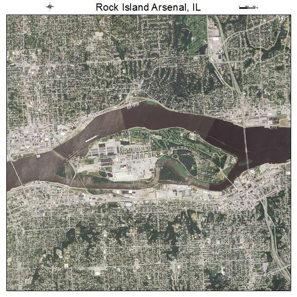 Rock Island Arsenal, IL Illinois Aerial Photography Map 2015