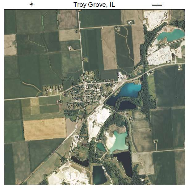Aerial Photography Map Of Troy Grove IL Illinois
