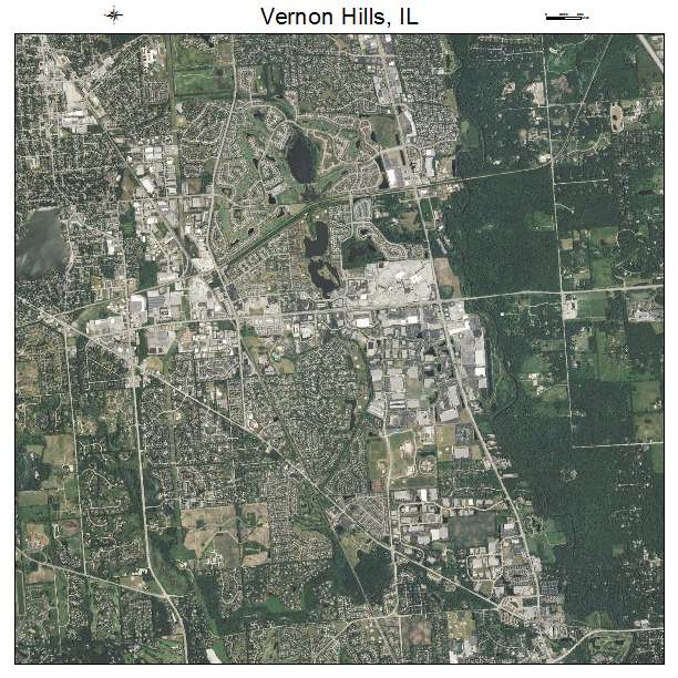 Vernon Hills Town Center: Aerial Photography Map Of Vernon Hills, IL Illinois