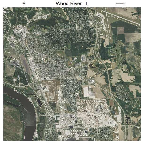 Wood River Il Elevation : Aerial photography map of wood river il illinois