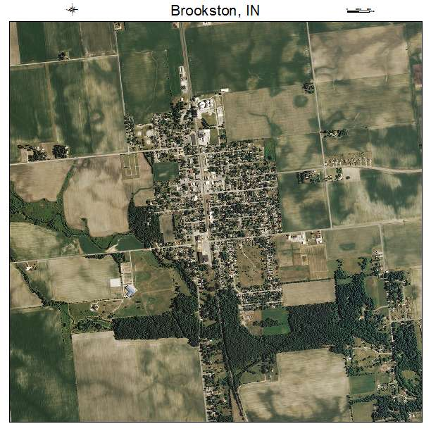 Aerial Photography Map Of Brookston In Indiana