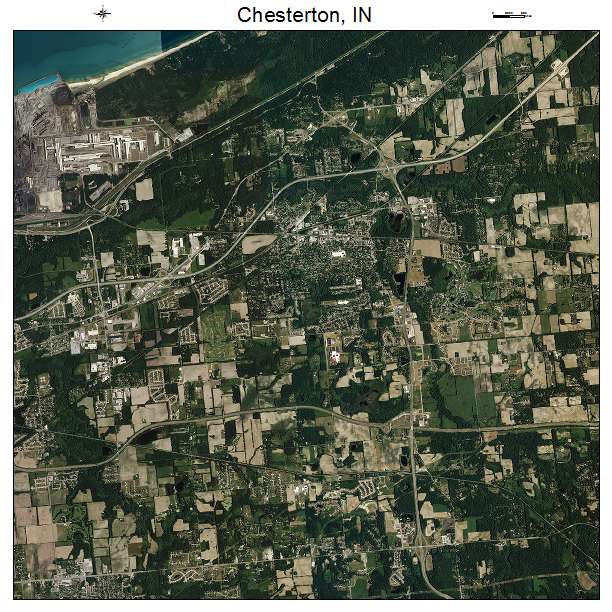 Chesterton, IN air photo map