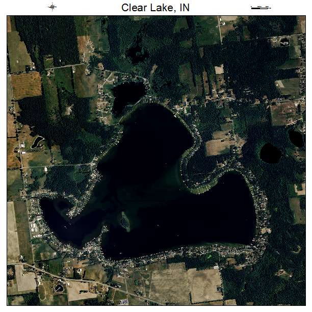 Clear Lake Indiana Map.Aerial Photography Map Of Clear Lake In Indiana