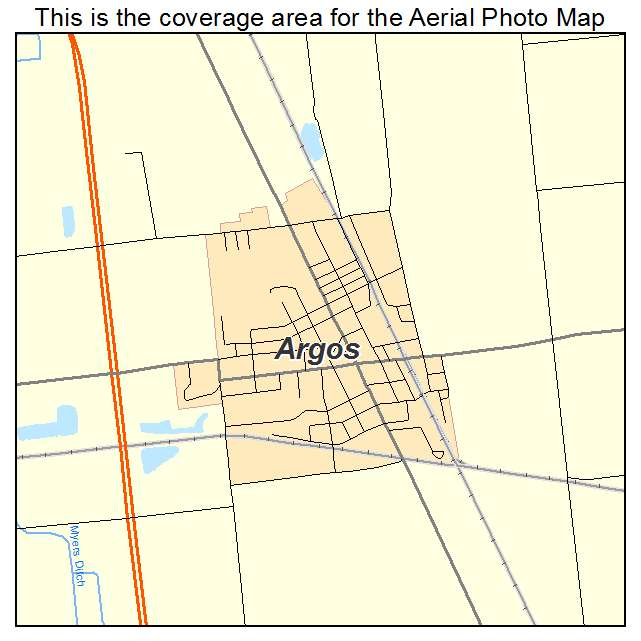 Argos In Indiana Aerial Photography Map 2014