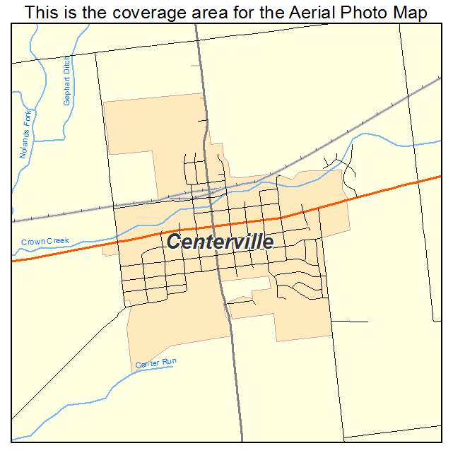 Aerial Photography Map of Centerville, IN Indiana