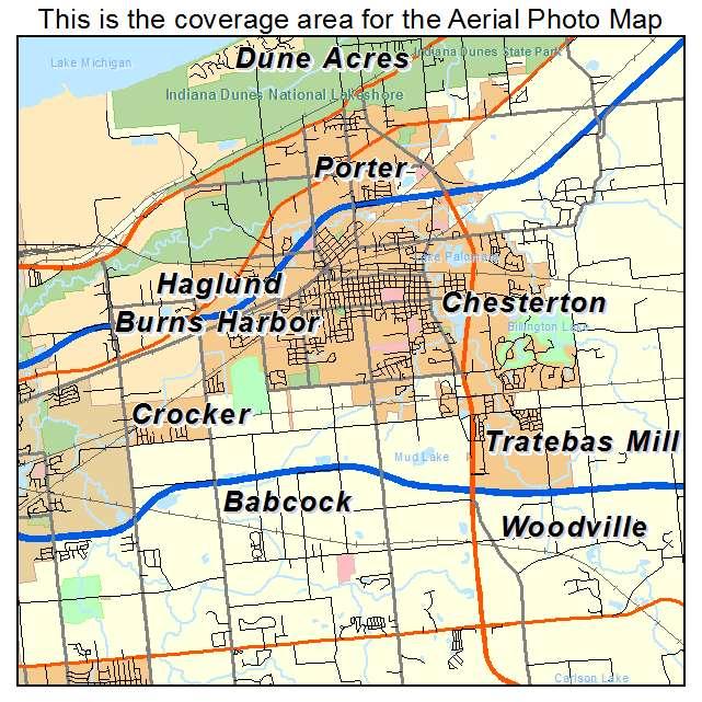 Chesterton, IN location map