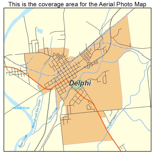 Aerial Photography Map Of Delphi In Indiana