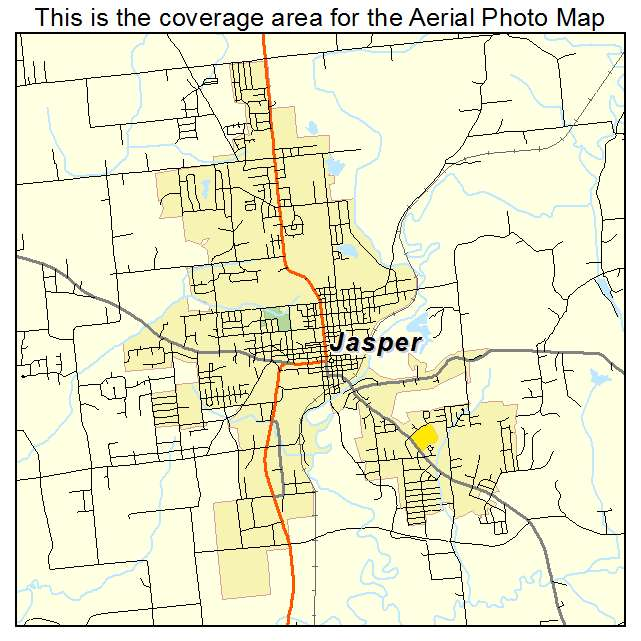 Aerial Photography Map Of Jasper IN Indiana