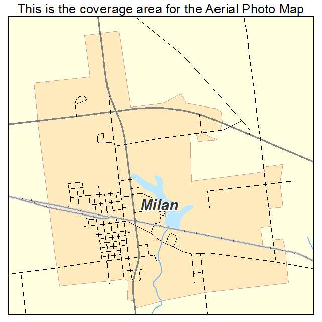 Milan Indiana Map.Aerial Photography Map Of Milan In Indiana