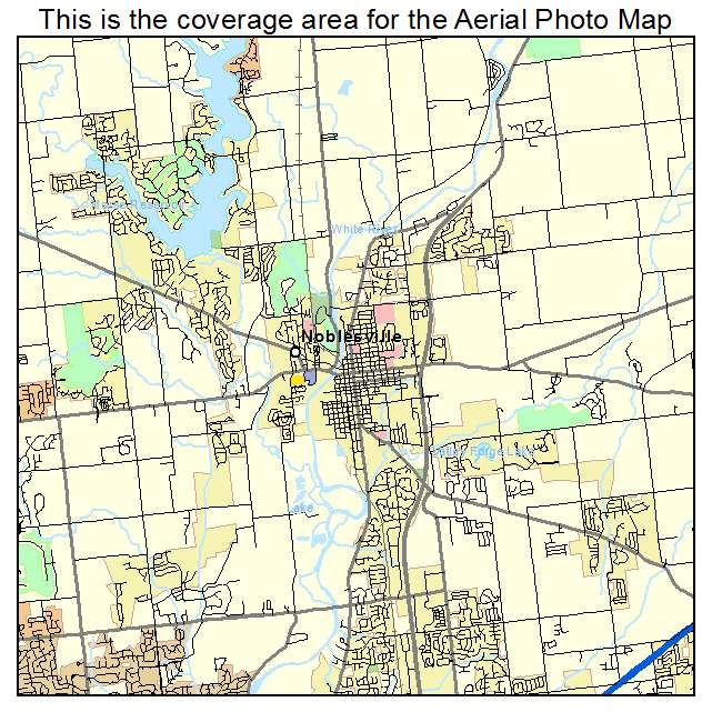 Aerial Photography Map Of Noblesville IN Indiana