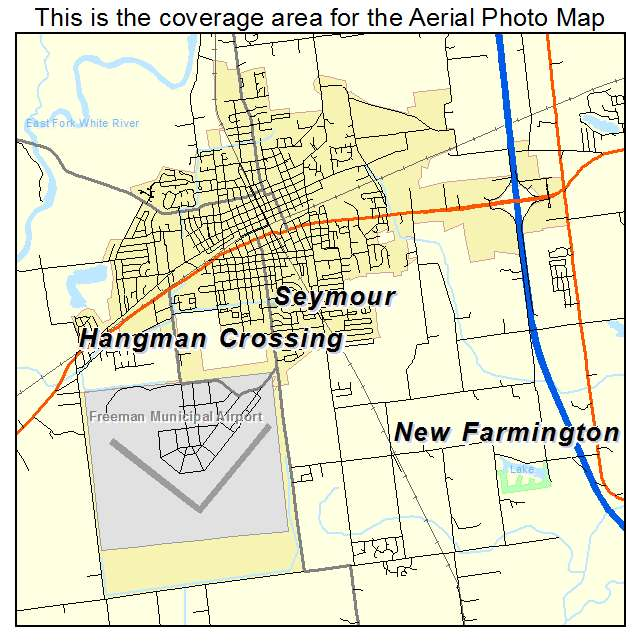 Aerial Photography Map Of Seymour In Indiana