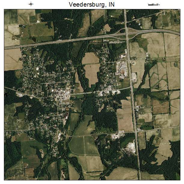 Aerial Photography Map of Veedersburg, IN Indiana