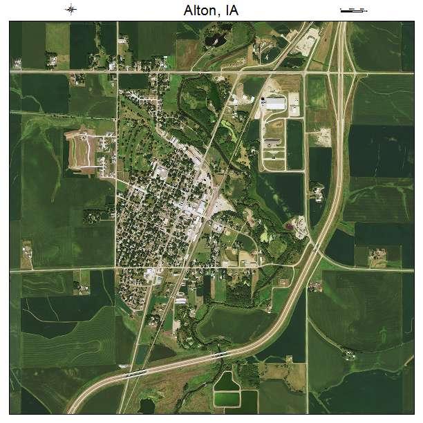 Aerial Photography Map of Alton, IA Iowa