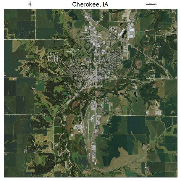 Cherokee, IA air photo map