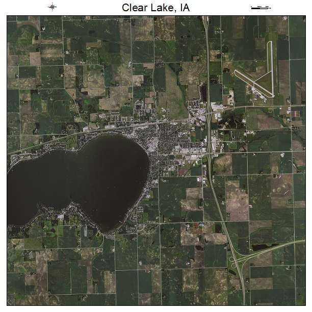 Aerial Photography Map Of Clear Lake Ia Iowa