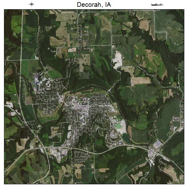 Aerial Photography Map Of Decorah IA Iowa