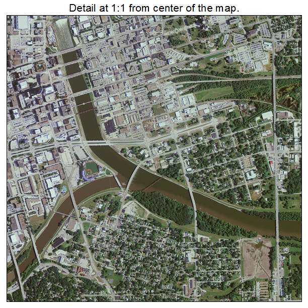 Aerial Photography Map Of Des Moines IA Iowa