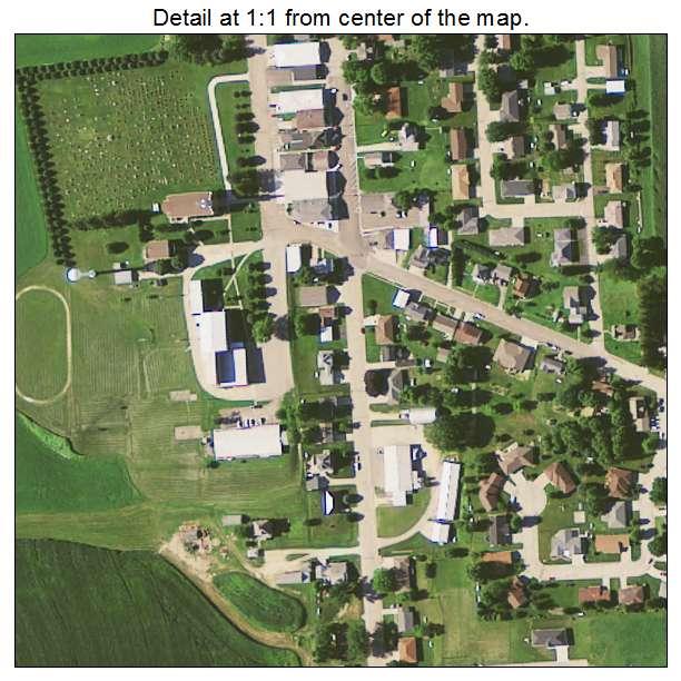 Aerial Photography Map of Holy Cross, IA Iowa