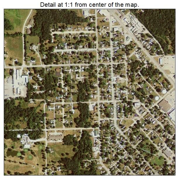 Aerial Photography Map Of Keokuk IA Iowa