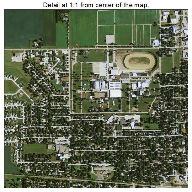 Spencer, Iowa aerial imagery detail