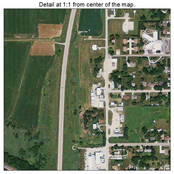 Aerial Photography Map of Villisca, IA Iowa