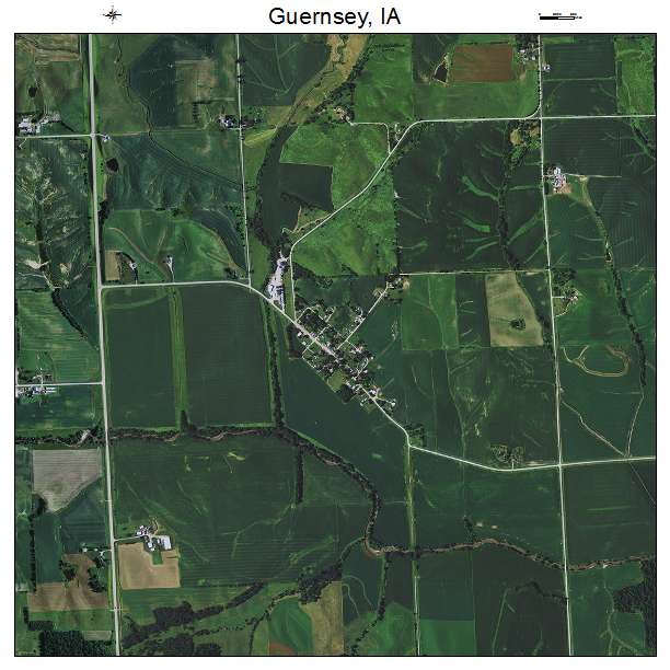 Guernsey, IA Iowa Aerial Photography Map 2015 on