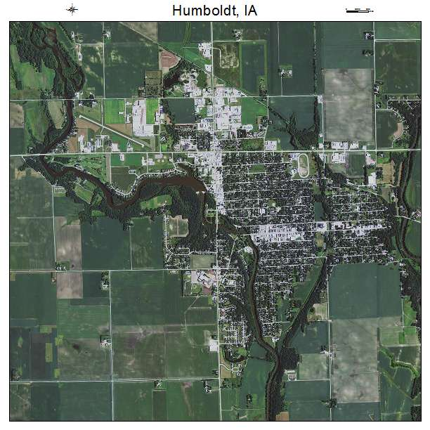 Aerial Photography Map Of Humboldt IA Iowa