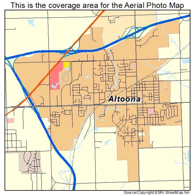 Aerial Photography Map Of Altoona Ia Iowa