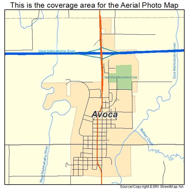 Avoca Iowa Map.Aerial Photography Map Of Avoca Ia Iowa