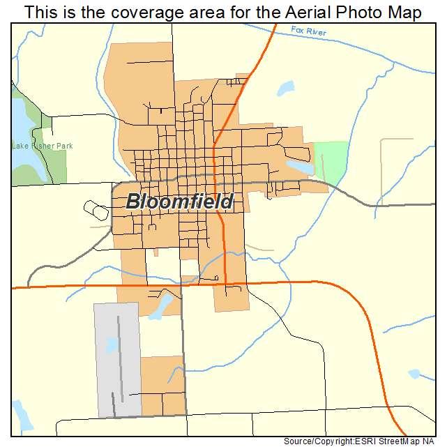 Aerial Photography Map of Bloomfield, IA Iowa