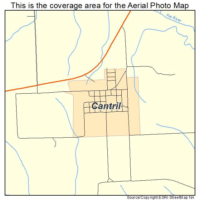 Cantril Iowa Map.Aerial Photography Map Of Cantril Ia Iowa