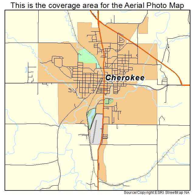 Cherokee, IA location map