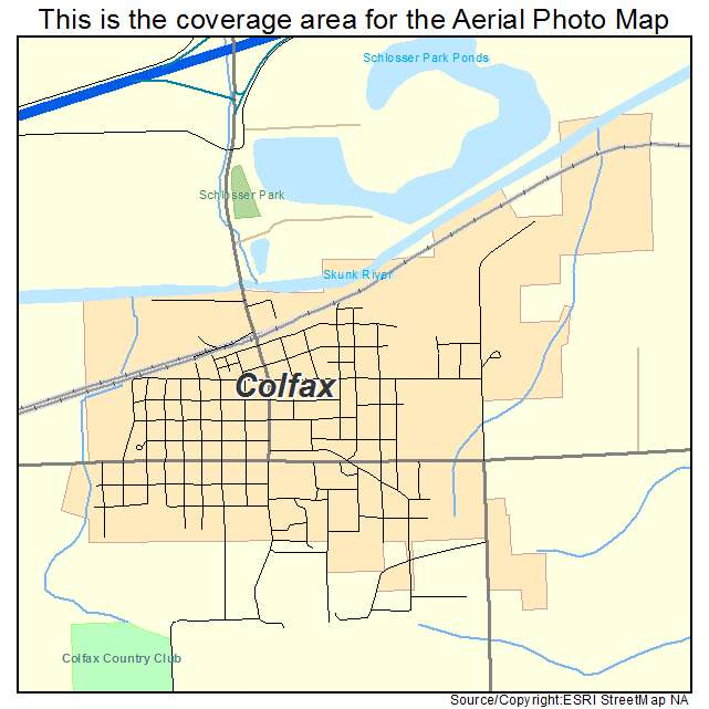 Aerial Photography Map of Colfax, IA Iowa