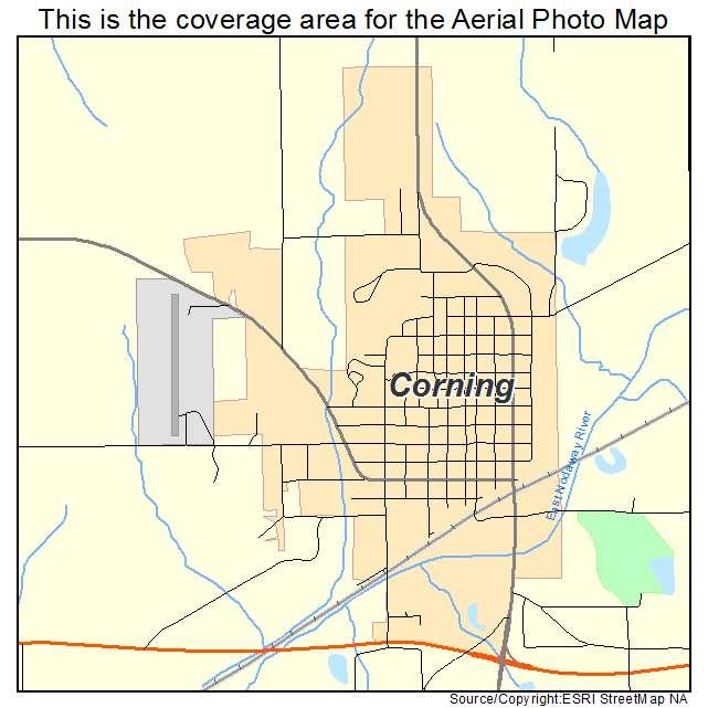 Aerial Photography Map of Corning, IA Iowa