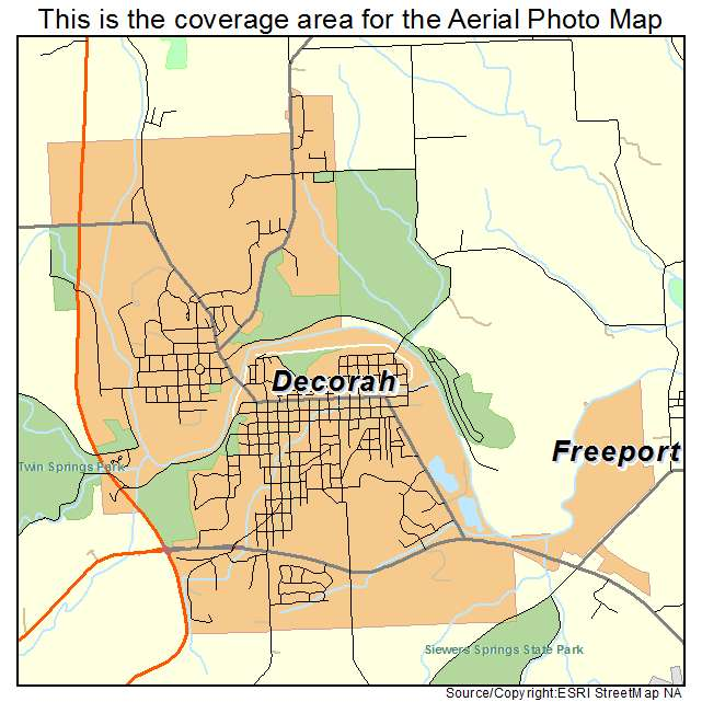 map of decorah iowa Aerial Photography Map Of Decorah Ia Iowa map of decorah iowa