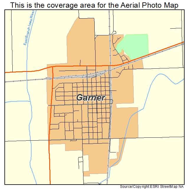 Garner Iowa Map.Aerial Photography Map Of Garner Ia Iowa
