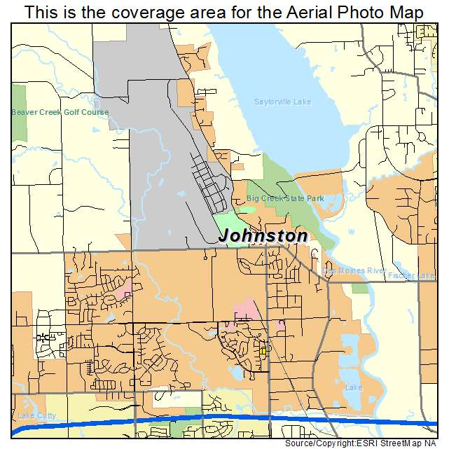 Aerial Photography Map of Johnston, IA Iowa