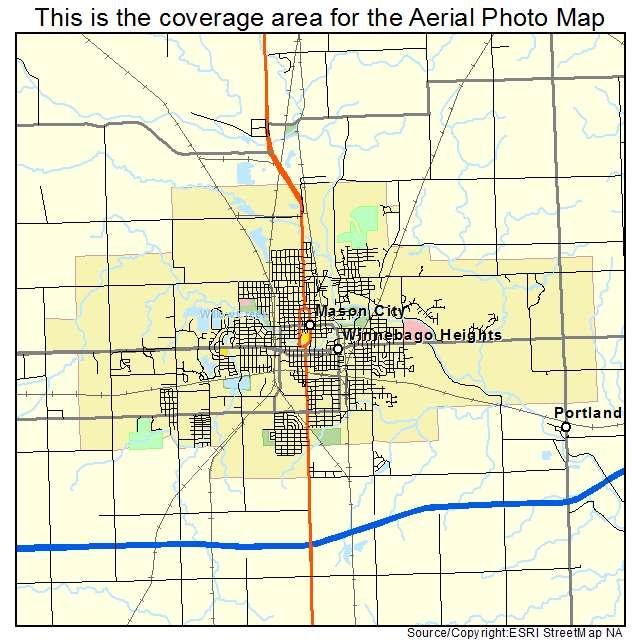 Aerial Photography Map Of Mason City IA Iowa