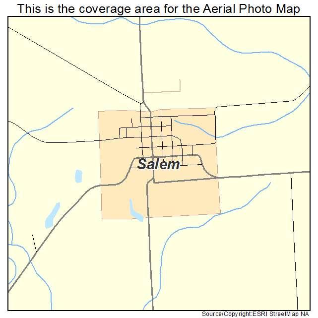 Salem Iowa Map.Aerial Photography Map Of Salem Ia Iowa