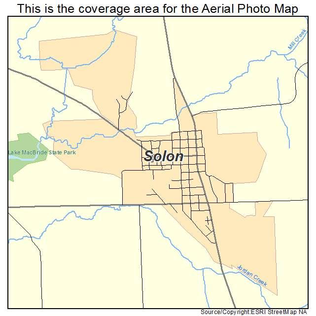 Aerial Photography Map of Solon, IA Iowa