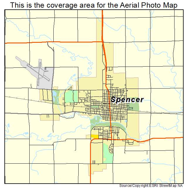 Spencer, IA location map