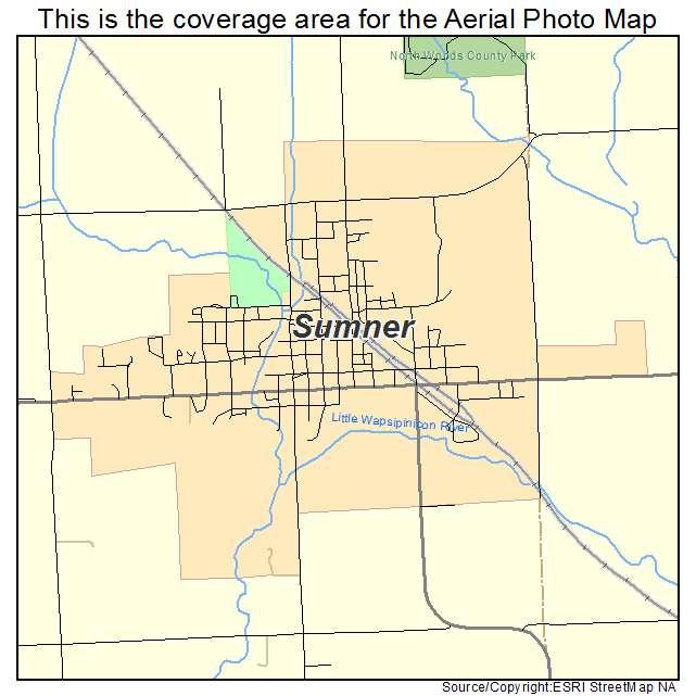 Sumner Iowa Map.Aerial Photography Map Of Sumner Ia Iowa